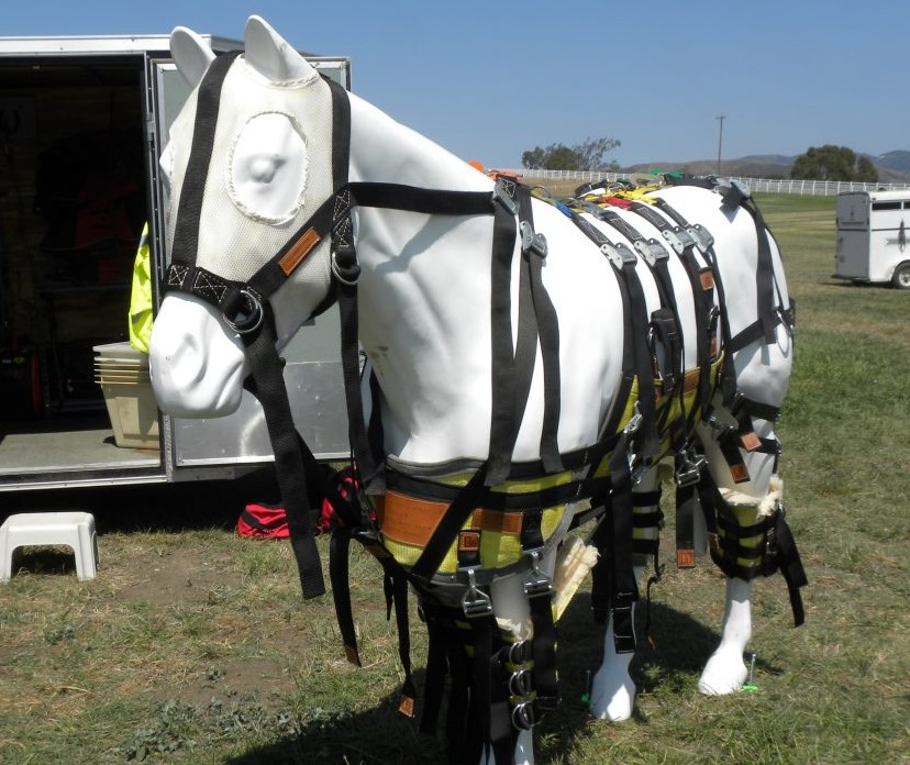 The Anderson Sling on our plastic demonstration horse.